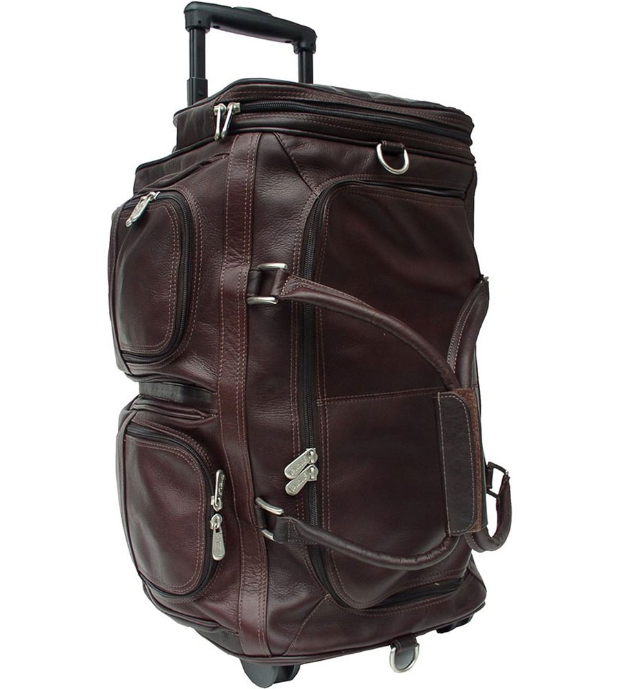 leather rolling duffle bag image click any image to view in high resolution
