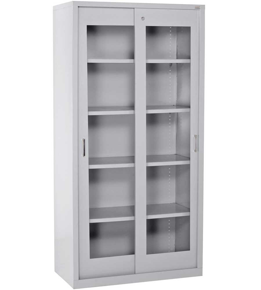 Locking storage cabinet in pantry shelving for Kitchen storage cabinets