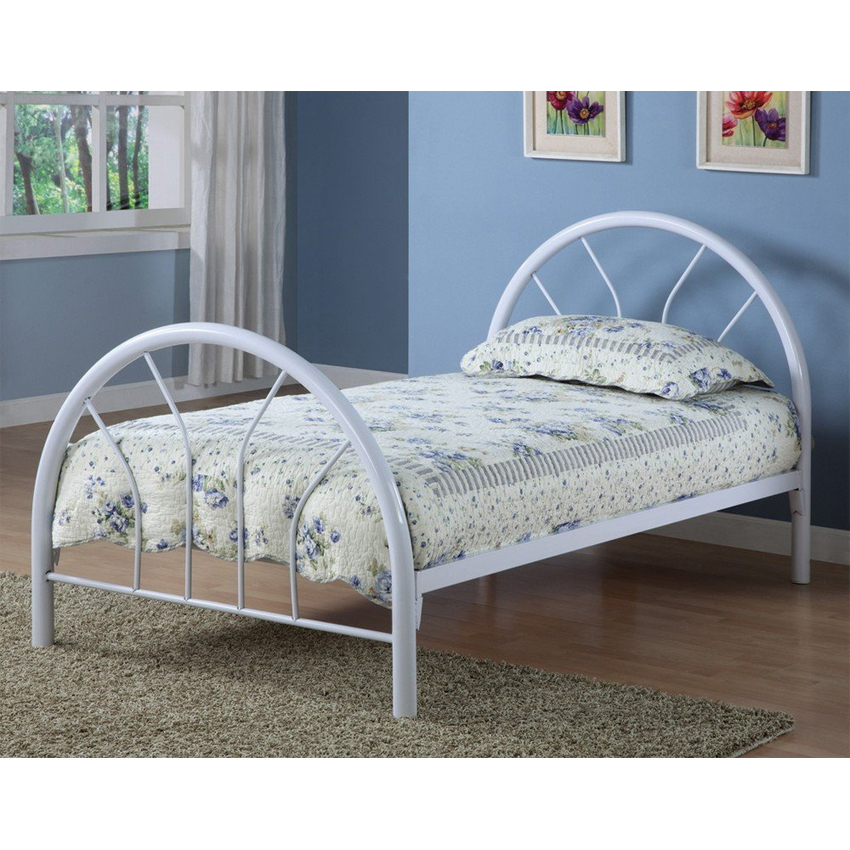Metal bed frame twin in beds and headboards for Twin mattress and frame