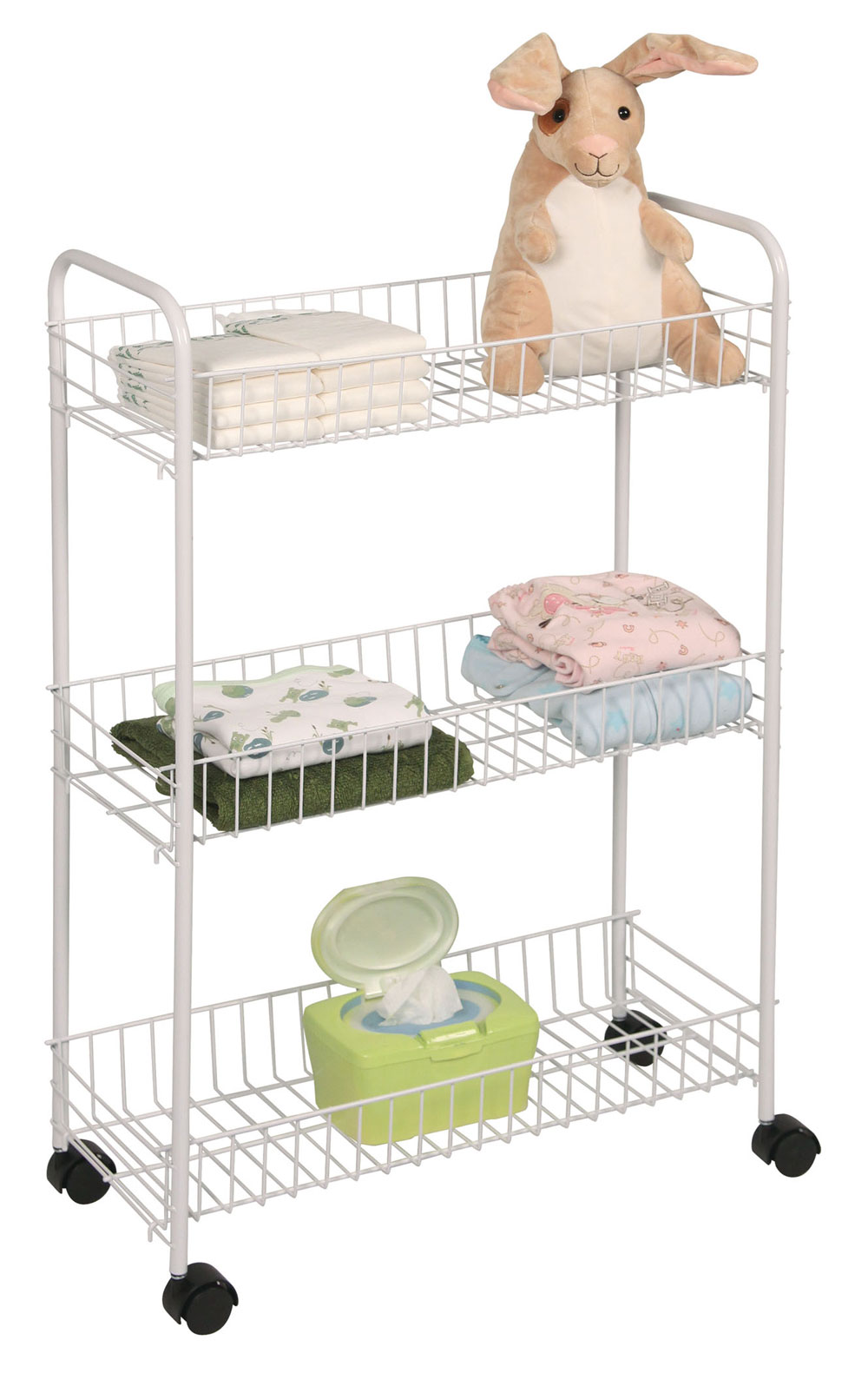 Mobile Cart - Three-Tiered in Bathroom Shelves