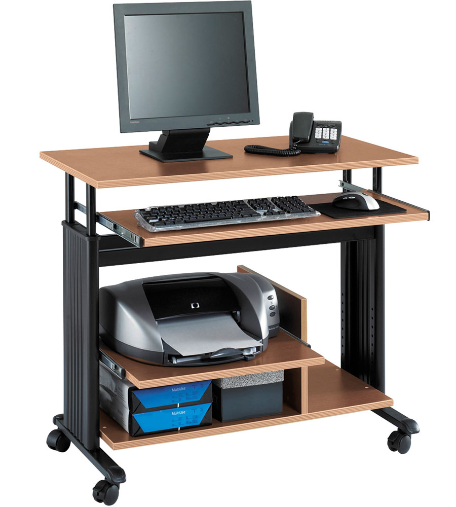 Mobile Workstation In Computer And Laptop Carts