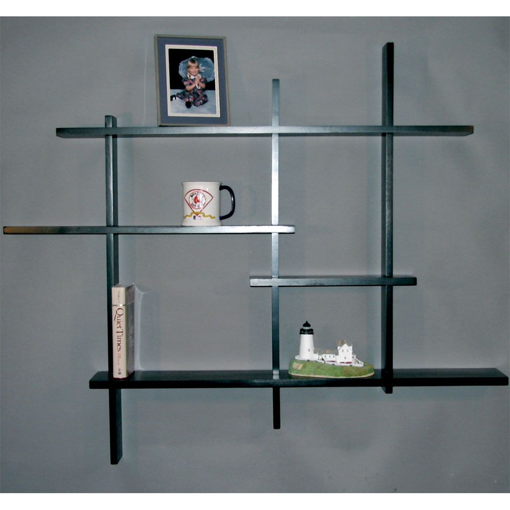 Multi Tier Shelf Birch In Wall Mounted Shelves
