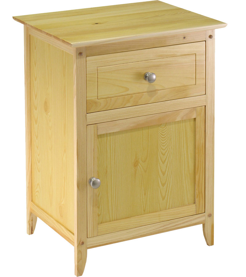 one drawer night stand in nightstands. Black Bedroom Furniture Sets. Home Design Ideas