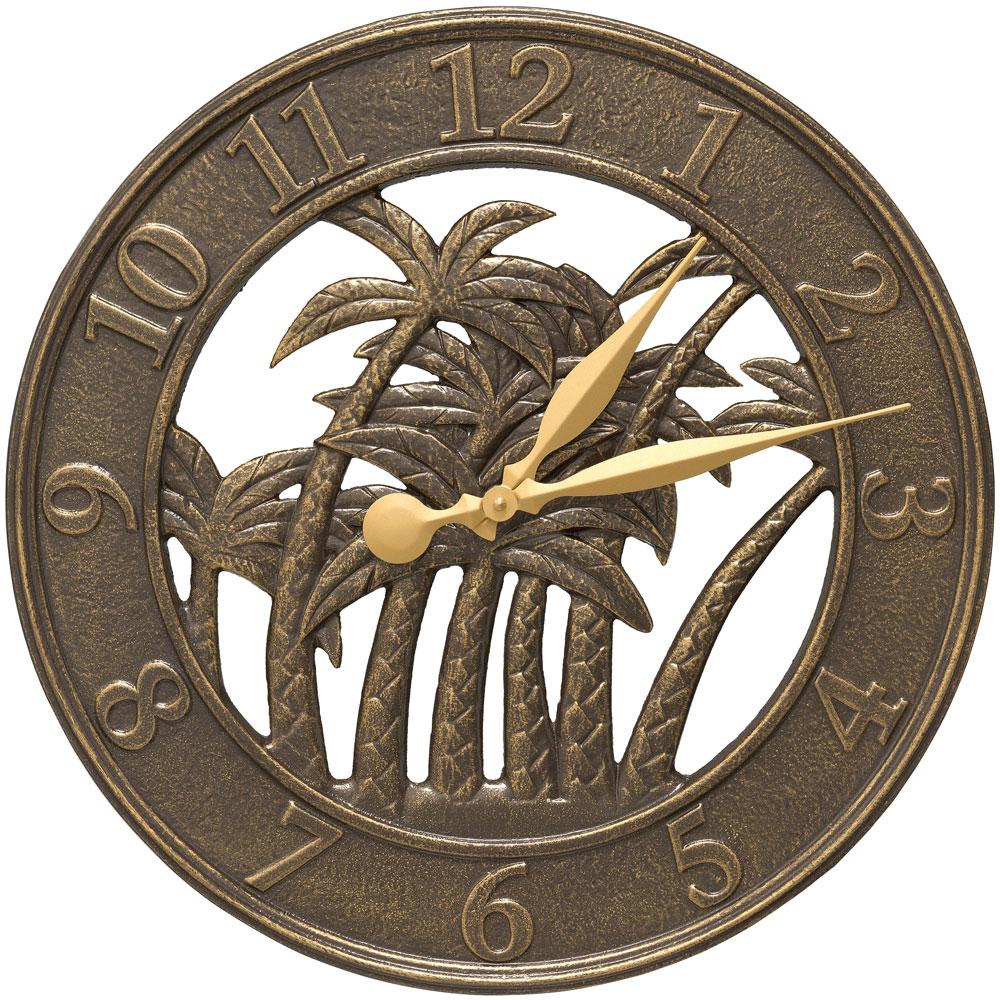 outdoor clock palm tree in outdoor clocks