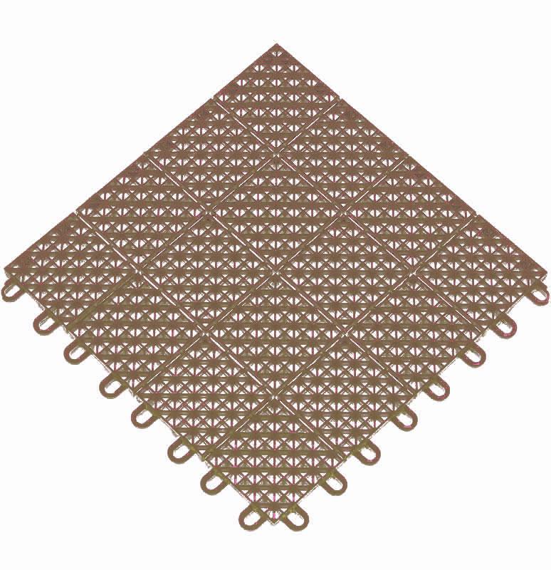 Outdoor Interlocking Tiles Set of 16 in Patio Flooring