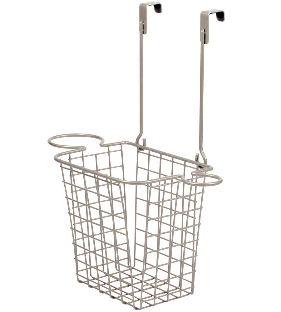 Over Cabinet Styling Rack With Basket In Hair Dryer Holders