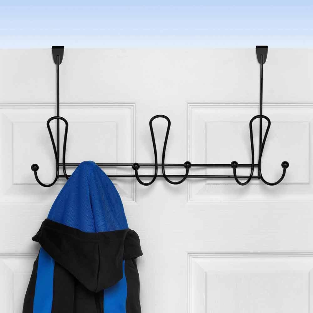 Over Door Coat Rack In Over The Door Hooks