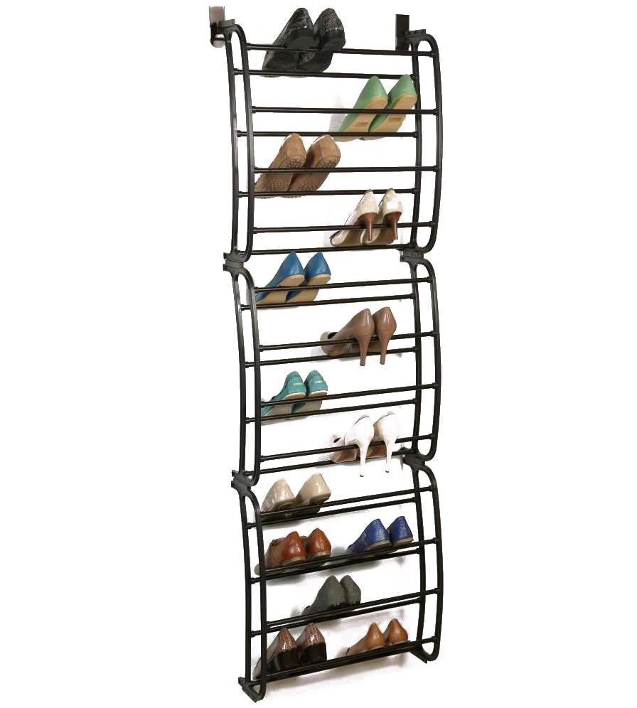 Over The Door Shoe Rack Bronze In Over The Door Shoe Racks