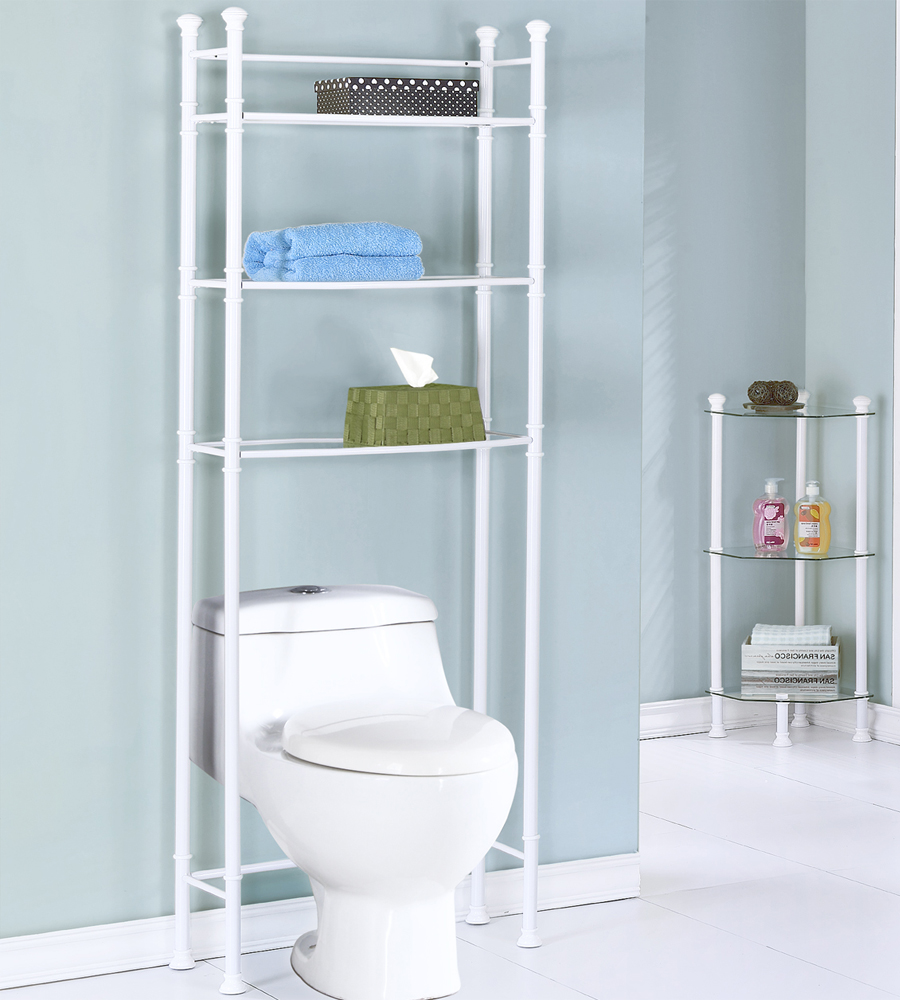 Over The Toilet Space Saver In Over The Toilet Shelving