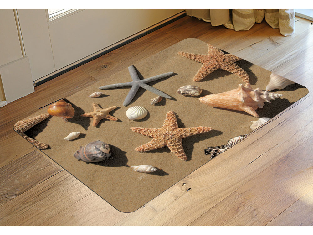 Padded Rug Beach Scene In Patterned Rugs