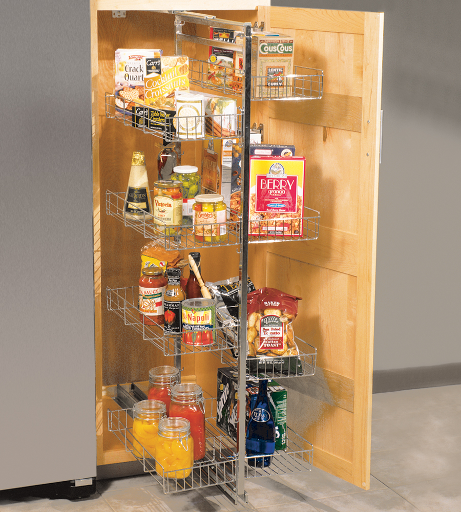 Pantry Roll Out Storage System In Pull Out Pantry Organizers