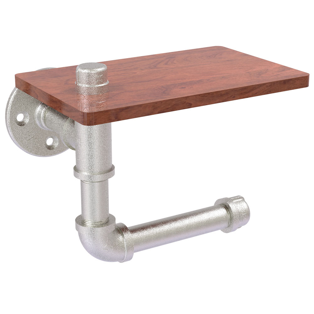 Pipeline Toilet Paper Holder With Shelf In Toilet Paper