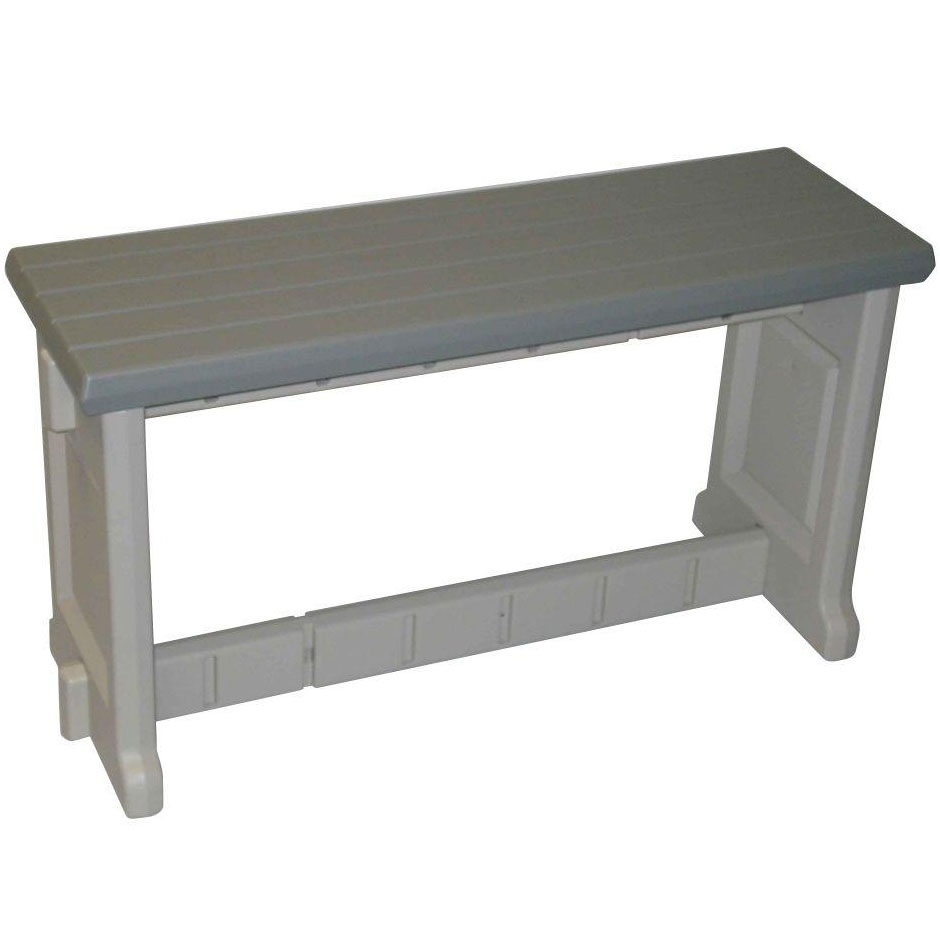 36 inch plastic patio bench in outdoor benches for Outdoor plastic bench seats