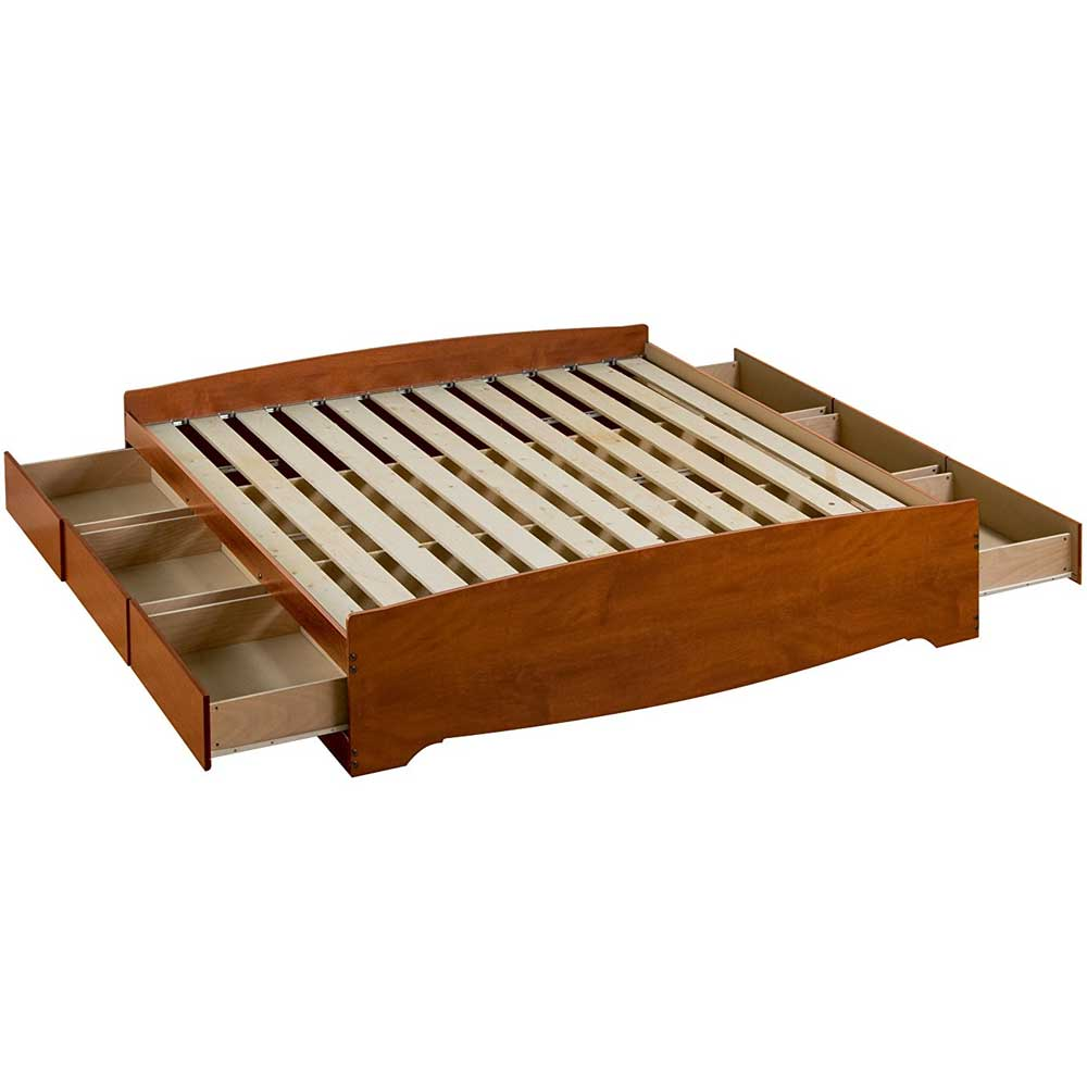 Platform storage bed king Platform king bed