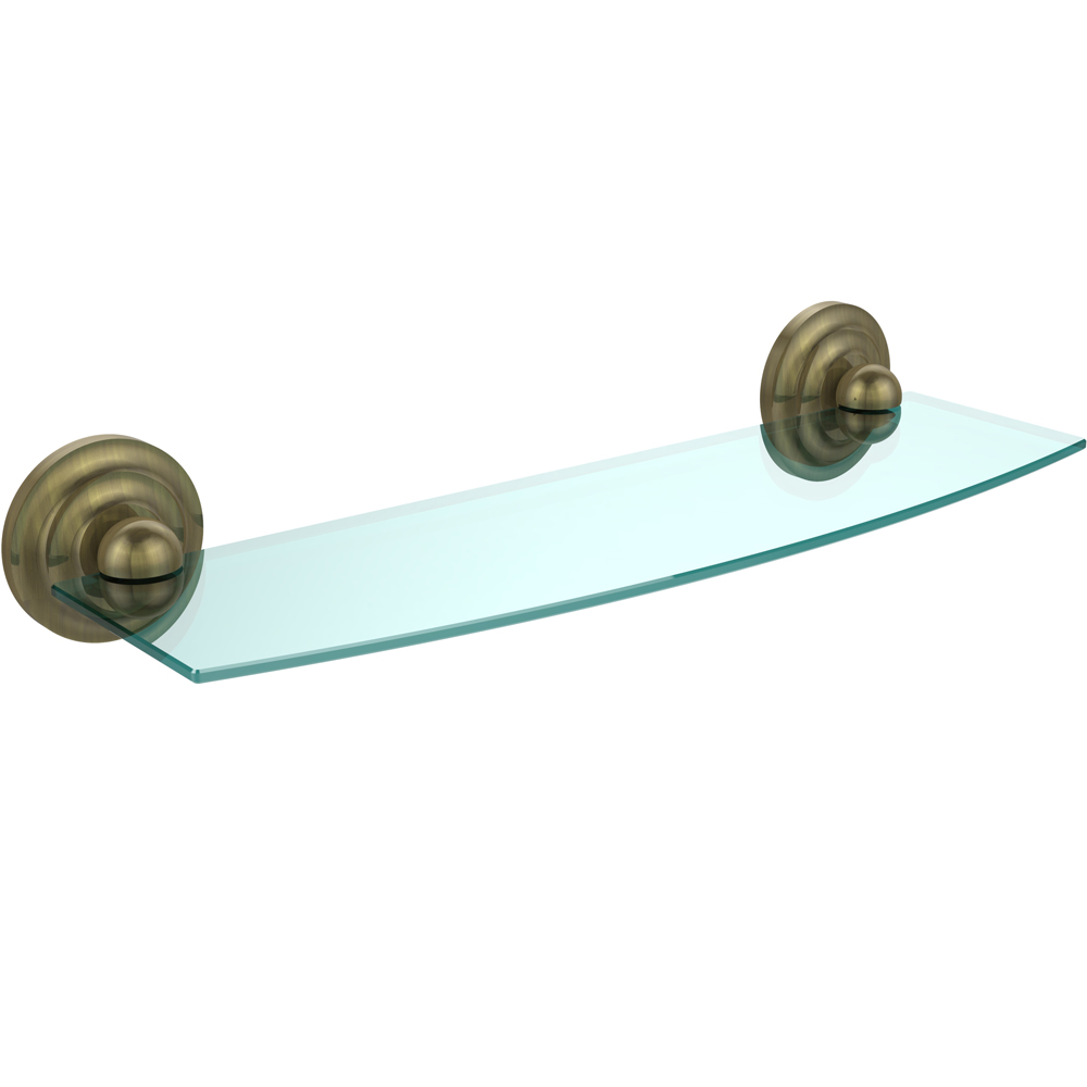 Prestige Beveled Glass Bath Shelf - 18 inches in Bathroom Shelves