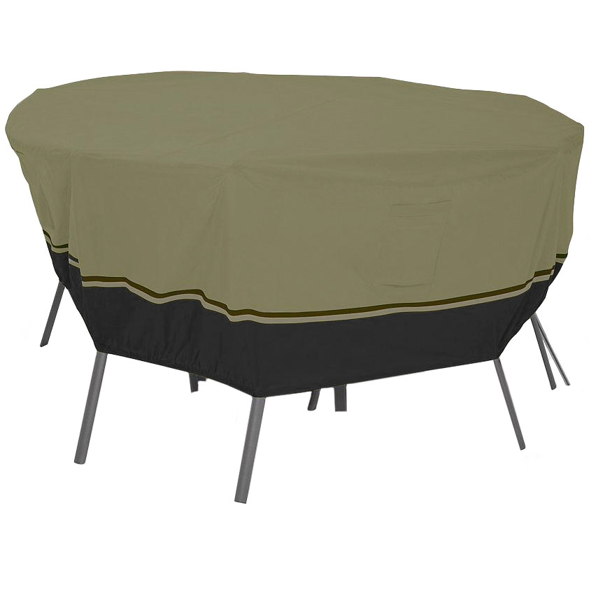 Patio table and chairs cover in patio furniture covers for Covered deck furniture