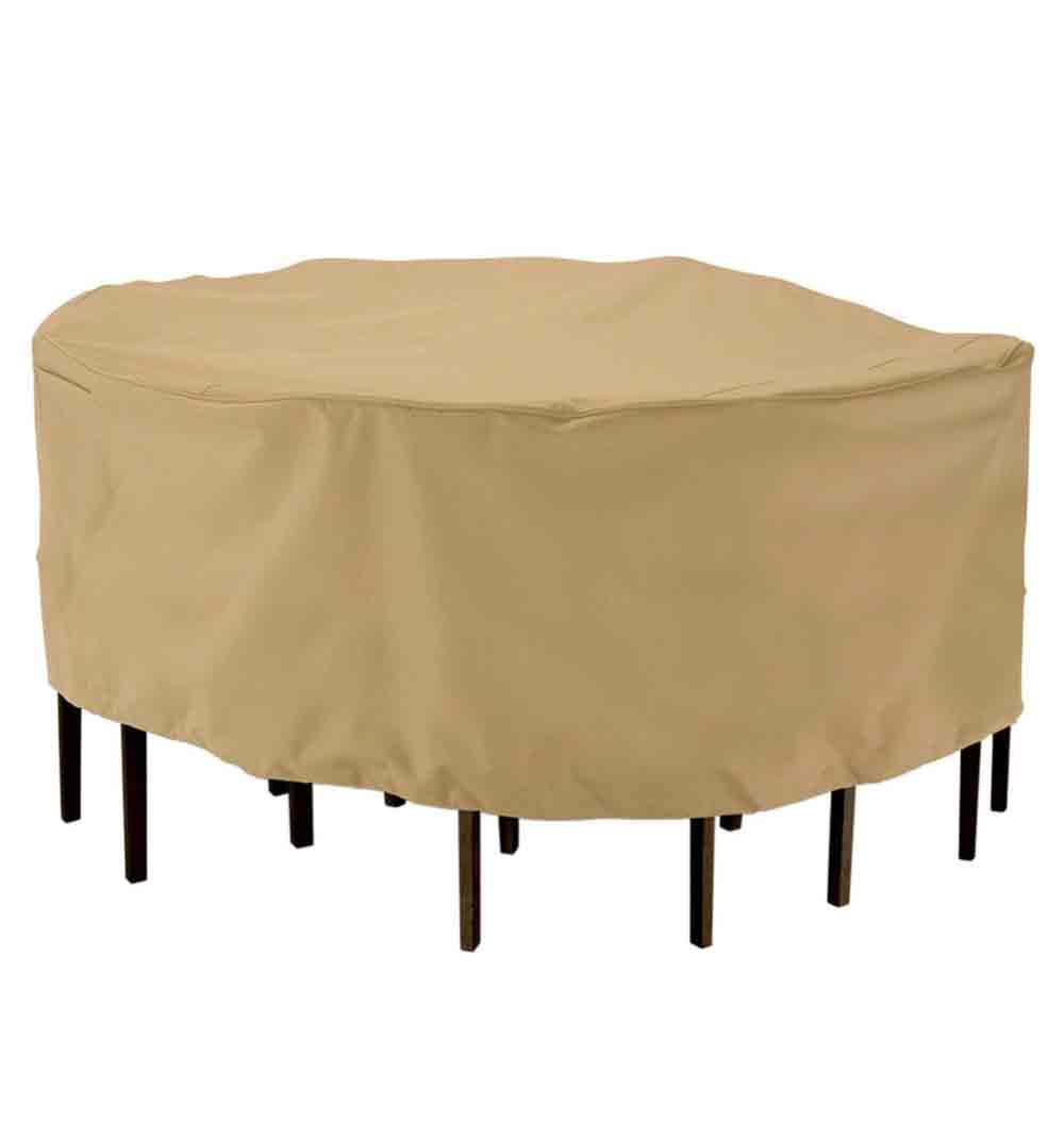 Patio table and chairs cover in patio furniture covers for Patio table with bench