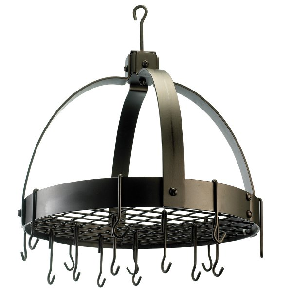 Old Dutch Hanging Pot Rack Circle In Hanging Pot Racks