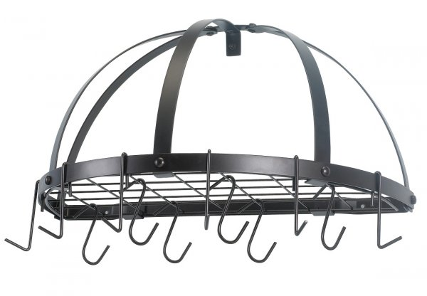 Old Dutch Wall Pot Rack Half Round In Wall Mount Pot Racks