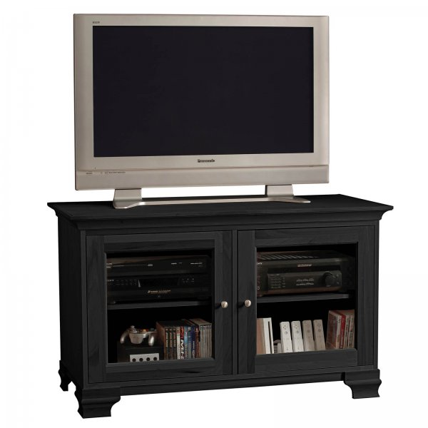 s elaine 50 inch wide glass panel television console by. Black Bedroom Furniture Sets. Home Design Ideas