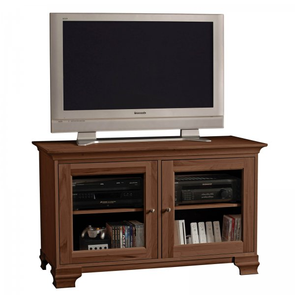 s elaine 50 inch wide glass panel television console by stacks and stacks by howard miller in. Black Bedroom Furniture Sets. Home Design Ideas