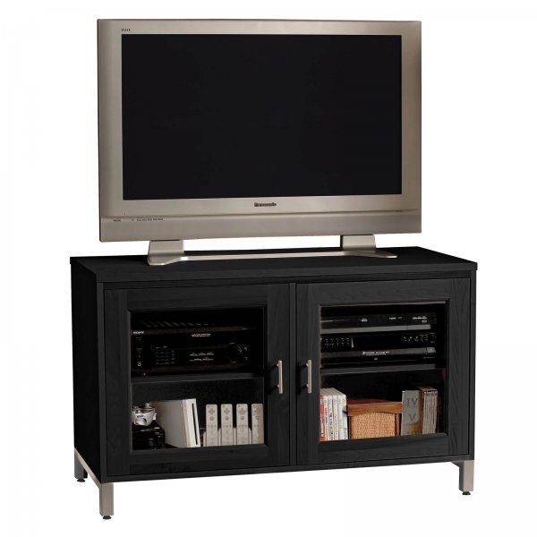 s isabel 50 inch wide glass door television console by. Black Bedroom Furniture Sets. Home Design Ideas
