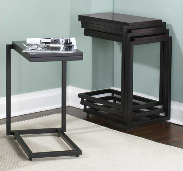 Nesting Snack Tables ~ Nesting c table in tv tray tables