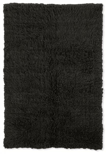 New Flokati Black Area Rug by Linon Home Decor in High
