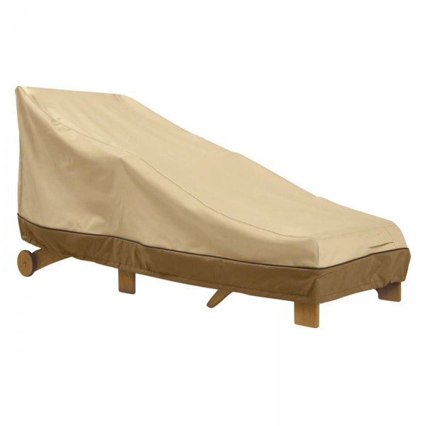 Chaise lounge cover veranda in patio furniture covers for Chaise lounge canopy