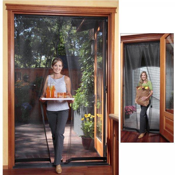Sliding glass door screen reversible in screen doors for Bug off instant screen door
