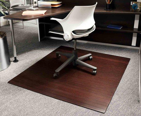 Bamboo Chairmat 48 X 60 Inch In Chair Mats