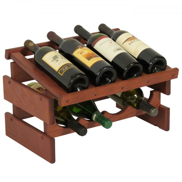 wood wine rack 8 bottle display price - Wooden Wine Rack