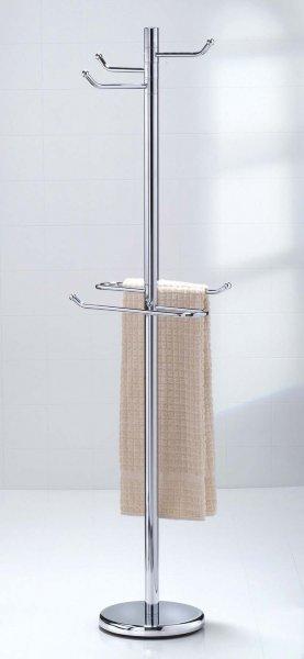 Tall Robe And Towel Bathroom Valet In Free Standing Towel Racks