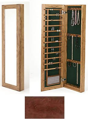Large Wall Mounted Jewelry Cabinet Magnetic Lock In