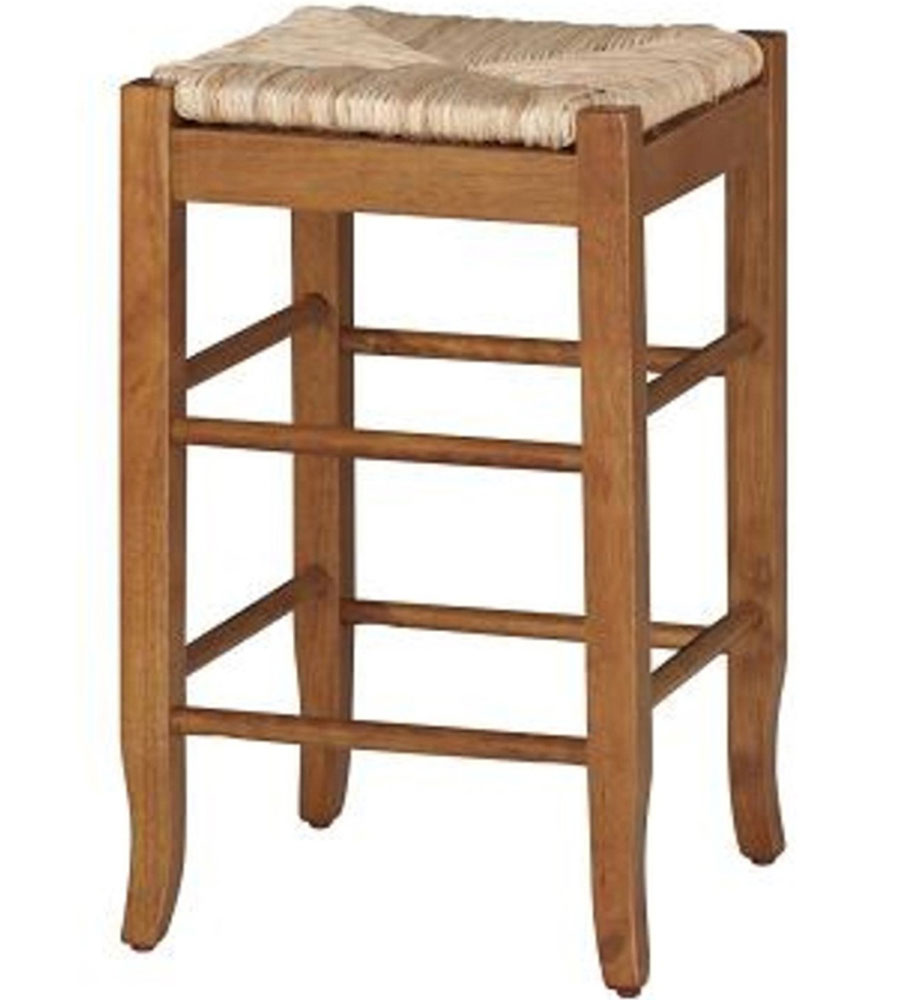 Rush Seat Counter Stool By Boraam In Wood Bar Stools