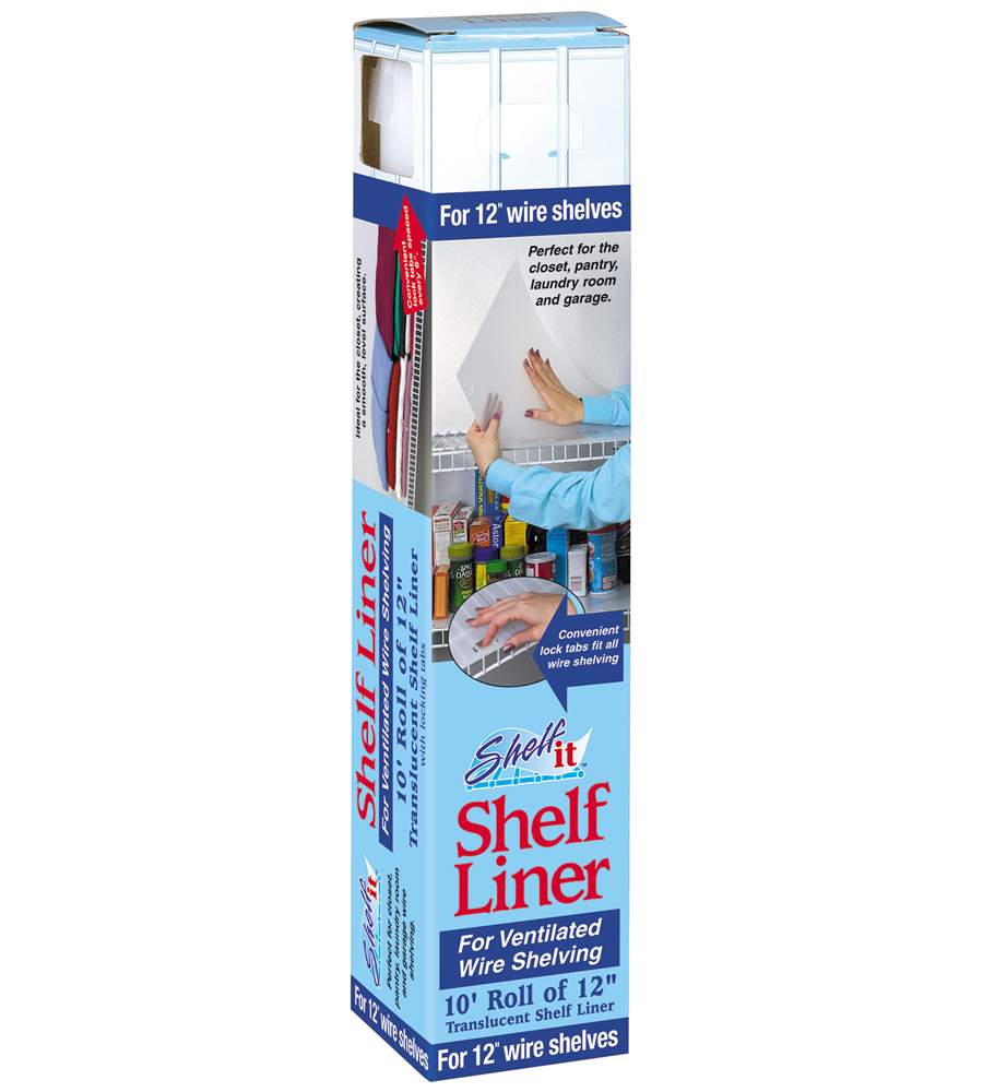 Shelf Liner for Wire Shelving - 10 Foot Roll in Shelf and Drawer Liners