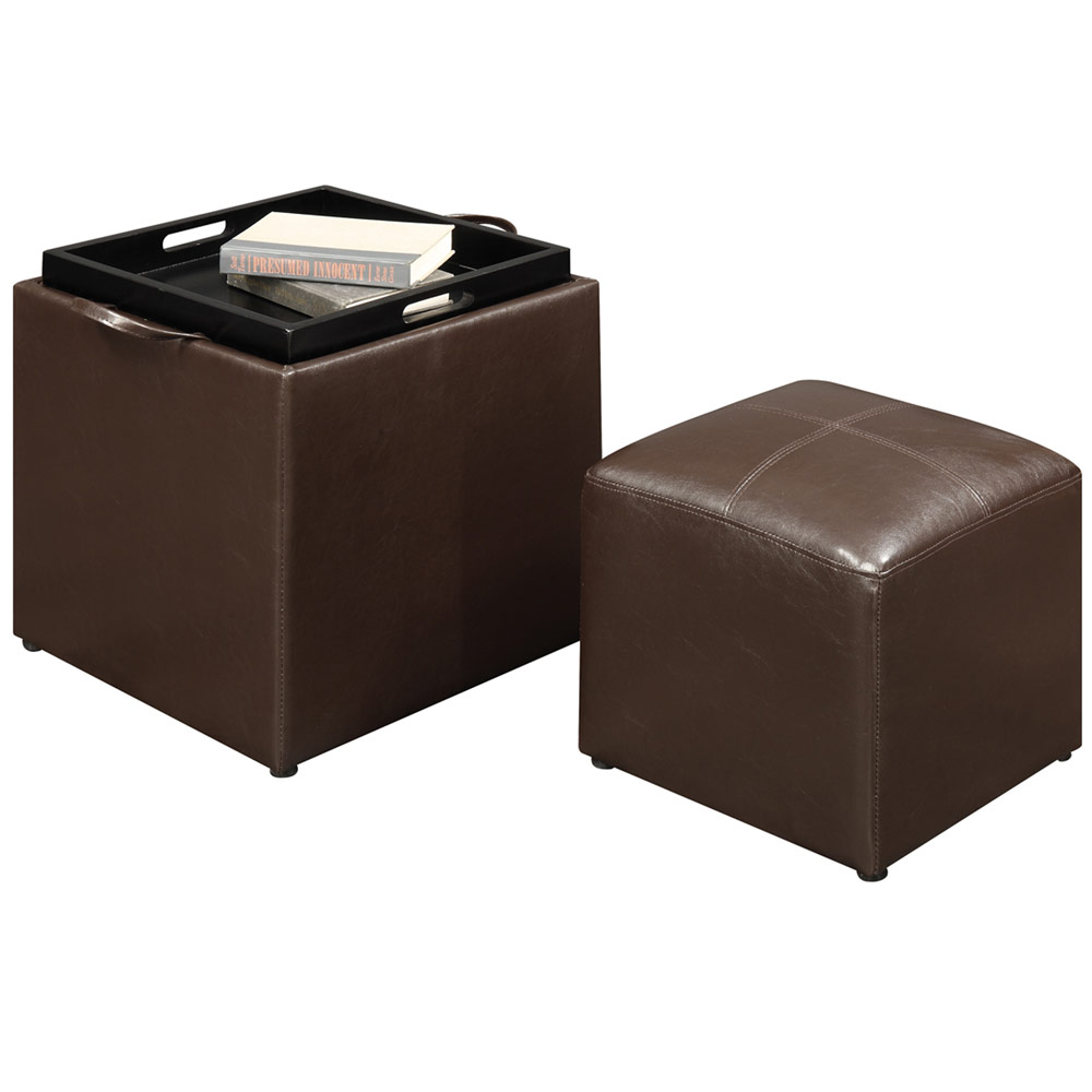 Ottomans Lifestyle Single Ottoman: Single Ottoman With Stool In Ottomans