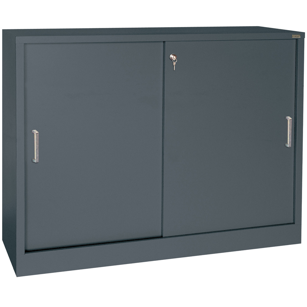 Sliding Door Storage Cabinet 29 Inch High In Storage Cabinets
