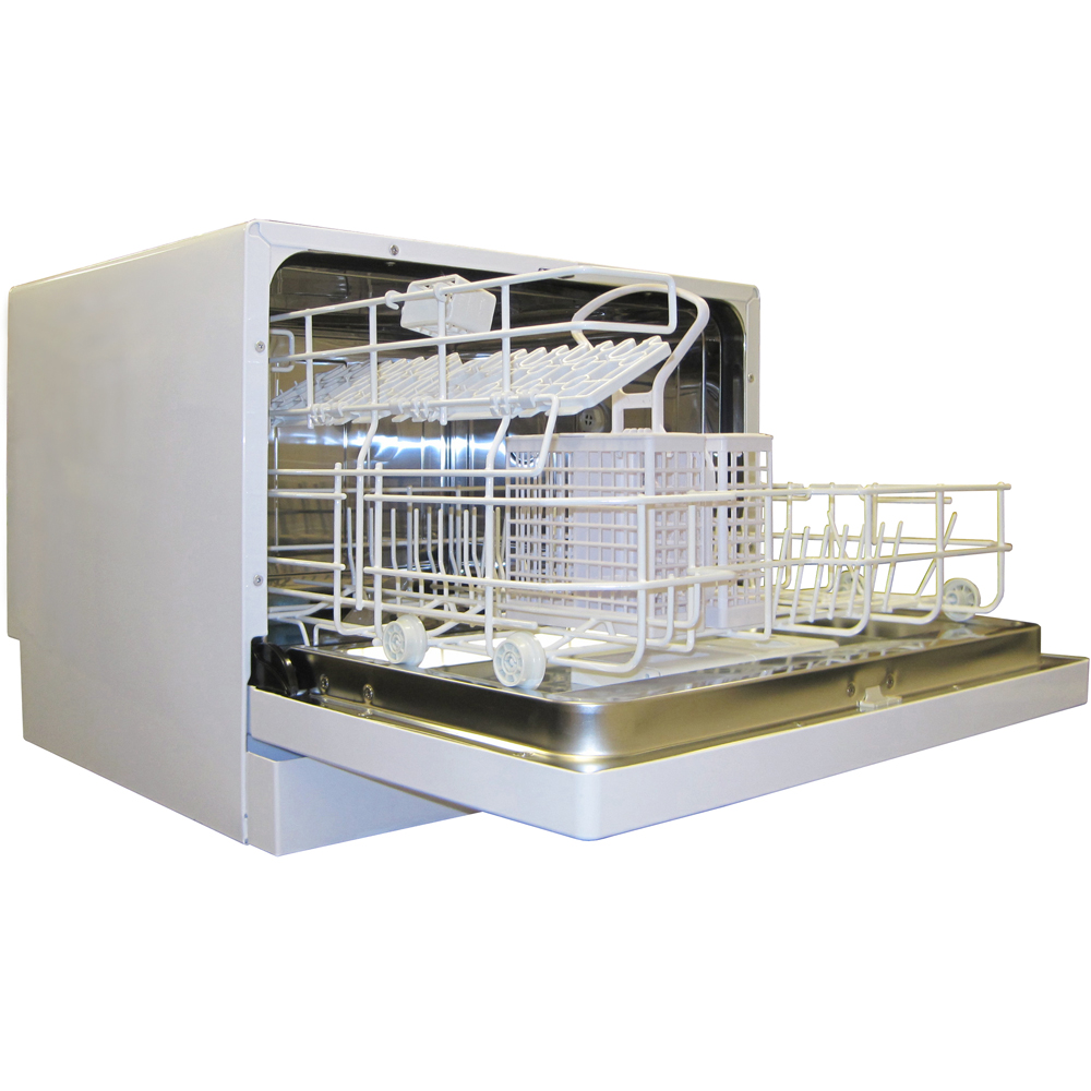 Countertop Dishwasher No Plumbing : Small Portable Dishwasher in Kitchen Electrics