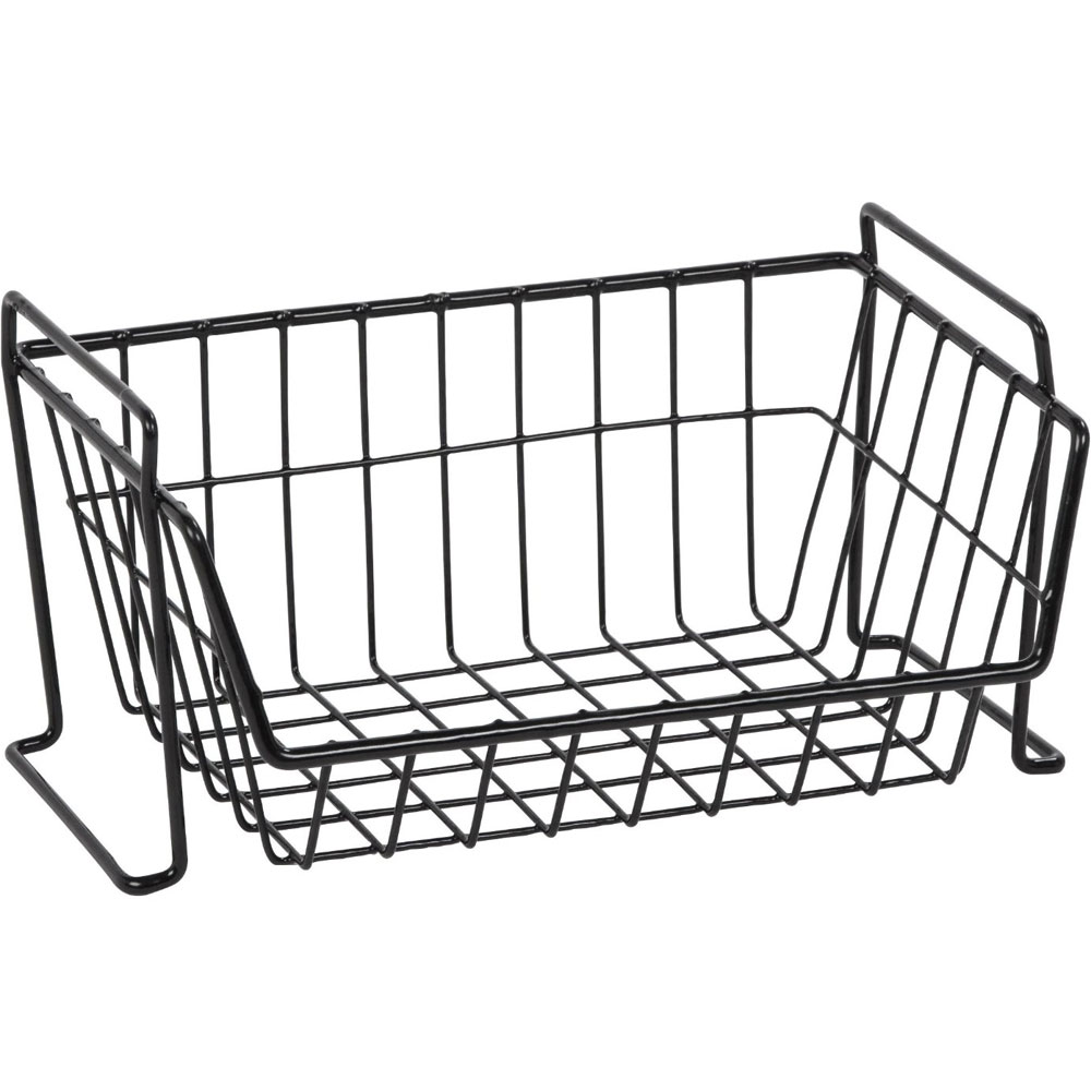 stackable wire basket in wire baskets. Black Bedroom Furniture Sets. Home Design Ideas