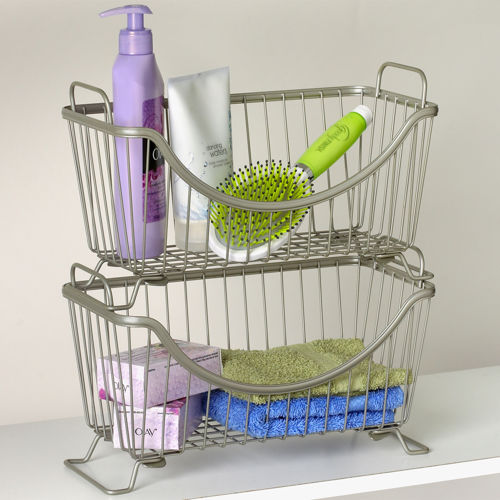stacking wire basket in wire baskets. Black Bedroom Furniture Sets. Home Design Ideas