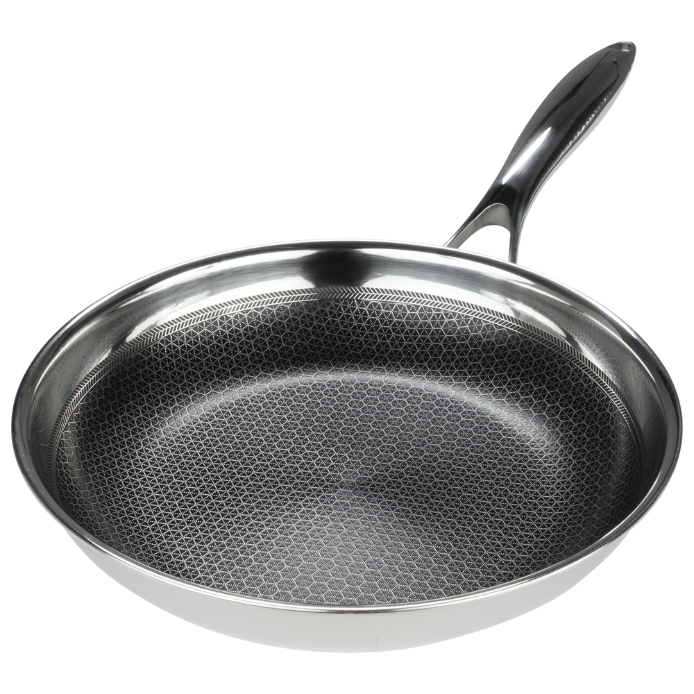 Stainless Steel Frying Pan Black Cube In Cookware