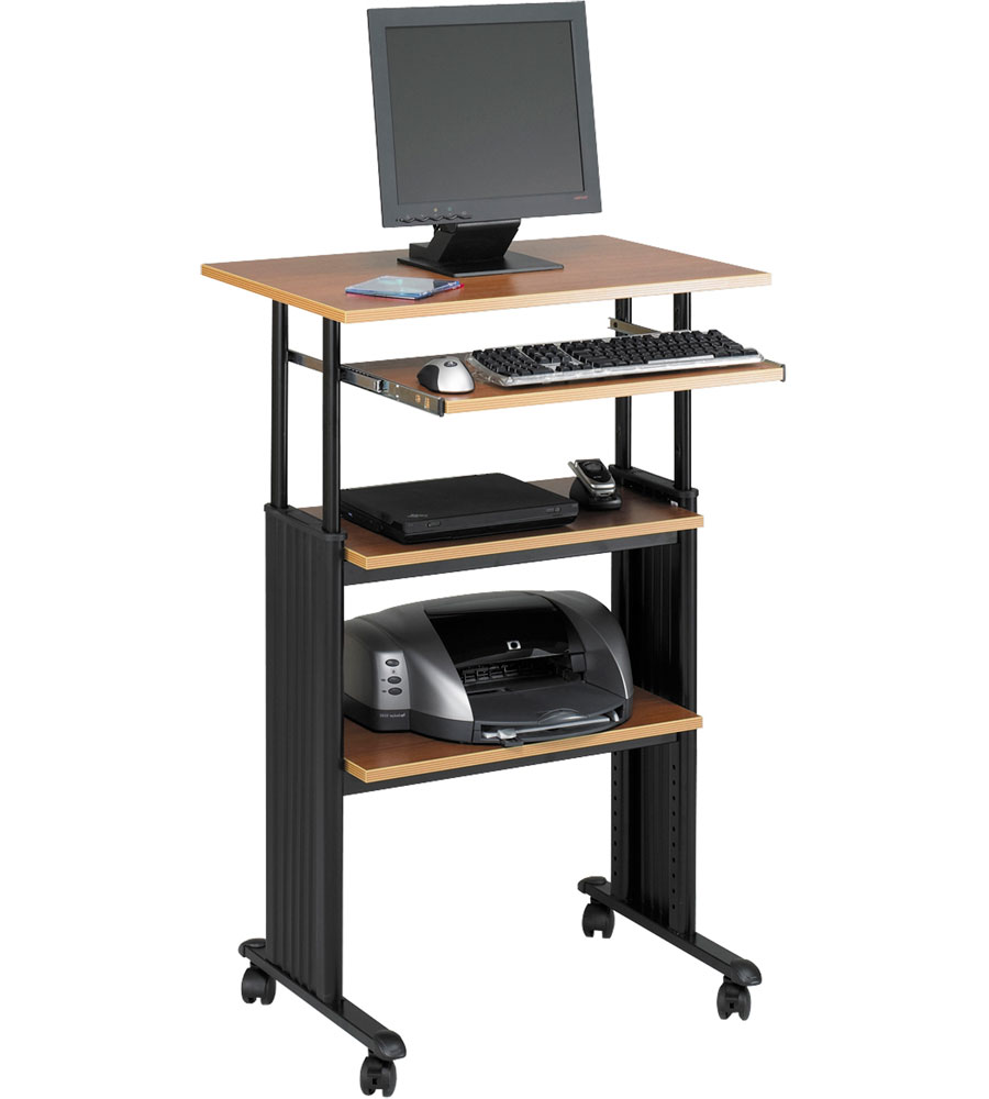 Stand Up Computer Desk In Computer And Laptop Carts