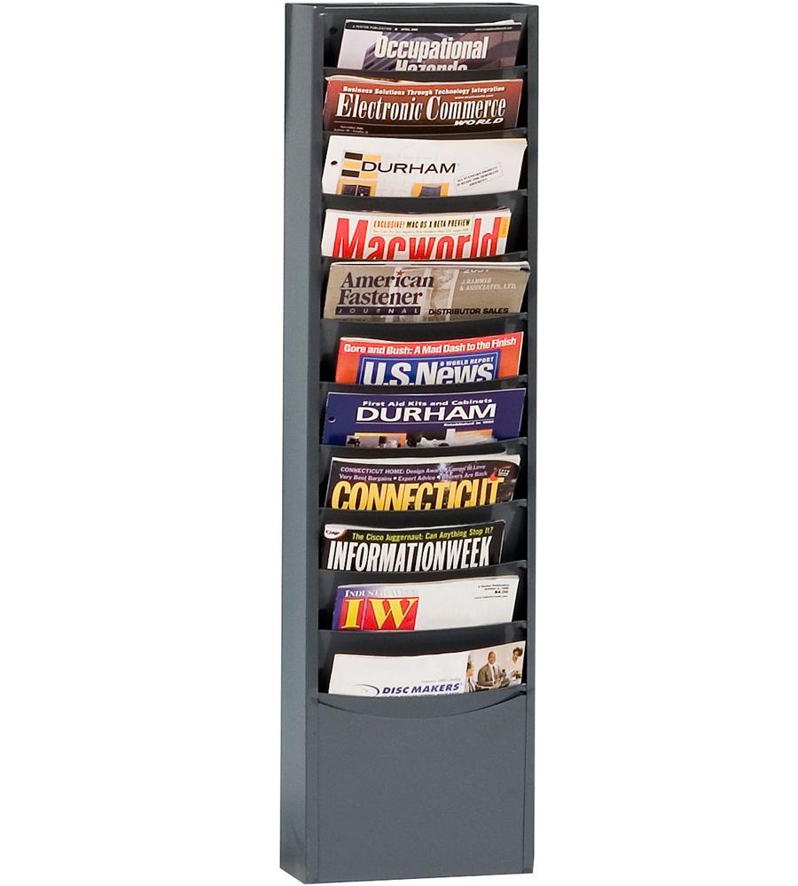 Steel Wall Mounted Magazine Rack In Wall Magazine Racks