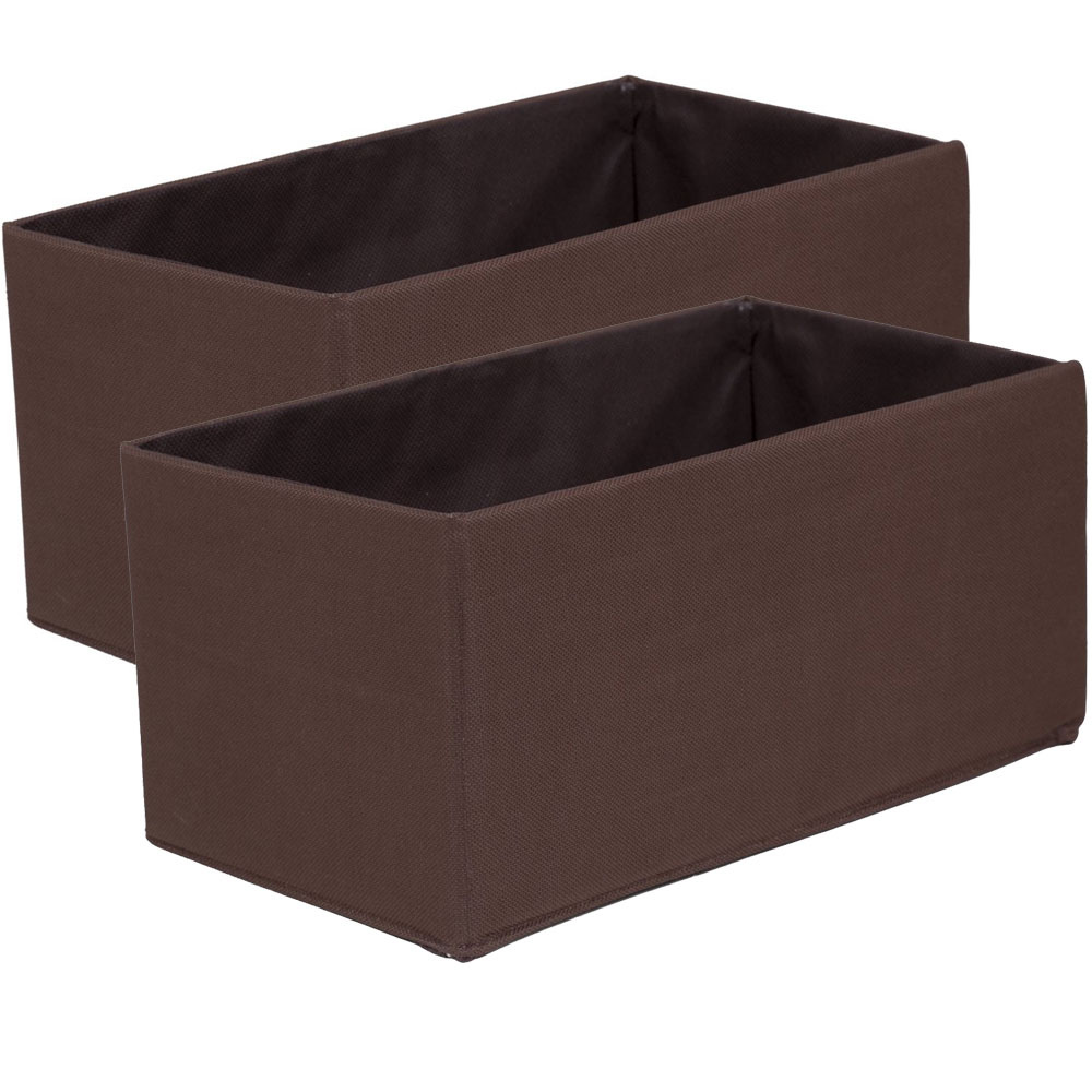 Fabric Storage Boxes Mini Set Of 2 In Shelf Bins