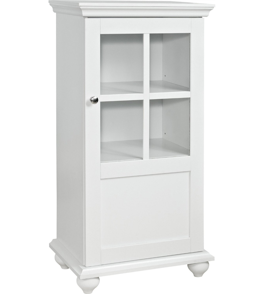 Kitchen Storage Cabinets With Glass Doors: Storage Cabinet With Glass Door In Pantry Shelving