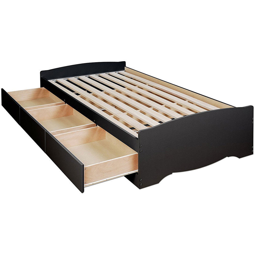 Twin platform storage bed in beds and headboards for Double bed with storage and mattress