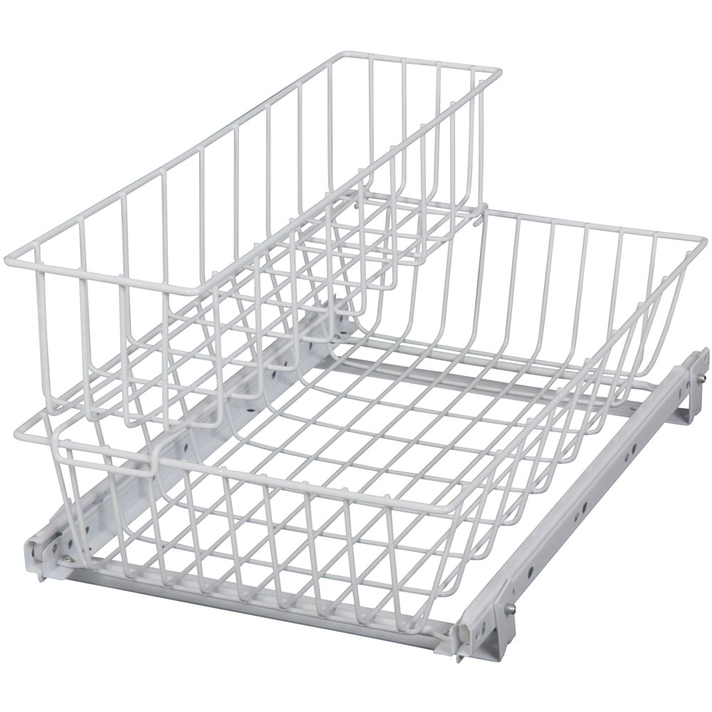 Uncategorized Sliding Storage Baskets two tier under sink sliding baskets in pull out baskets