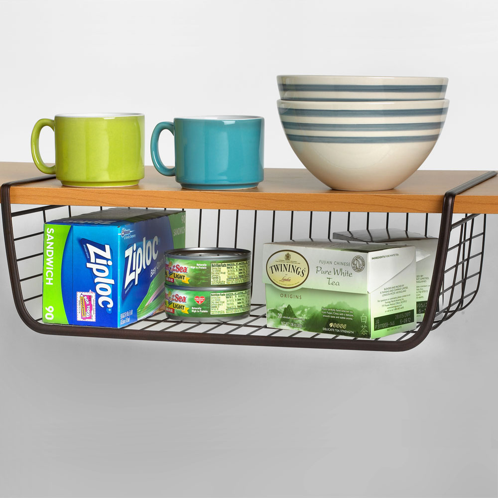 Under Shelf Wire Basket Image. Click Any Image To View In High Resolution