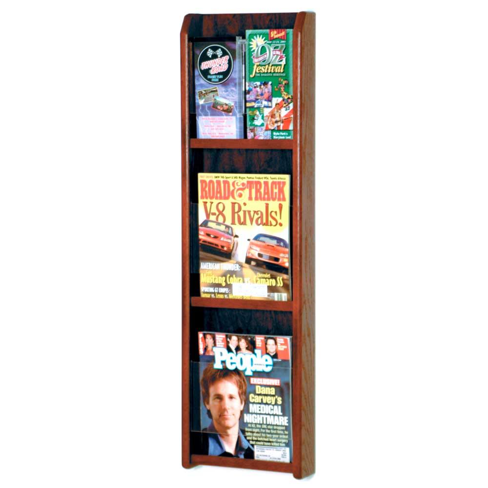 Wall Magazine Rack 3 Pocket In Wall Magazine Racks